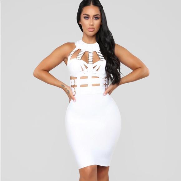 856e451c13 Fashion Nova White Bandage Dress